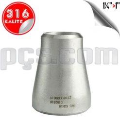 paslanmaz çelik 316 kalite konsantrik redüksiyon