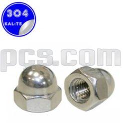 paslanmaz çelik 304 kalite inox a2 kör somun