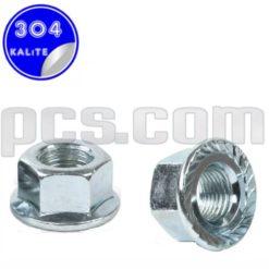 paslanmaz çelik 304 kalite inox a2 flanşlı somun