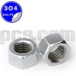 paslanmaz çelik 304 kalite inox a2 somun