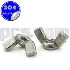 paslanmaz çelik 304 kalite inox a2 kelebek somun