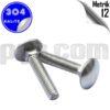paslanmaz çelik 304 kalite inox a2 yuvarlak başlı kasa civatası