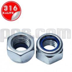 paslanmaz çelik 316 kalite inox a4 fiber somun