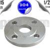 paslanmaz çelik 304 kalite düz flanş