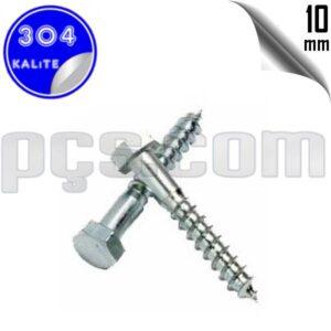 paslanmaz çelik 304 kalite inox a2 trifon vida 10 mm