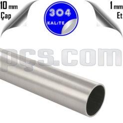 paslabmaz çelik 304 kalite 10x1 parça boru