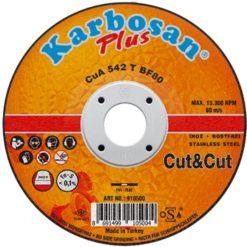 paslanmaz çelik inox karbosan plus cut & cut ince kesme taşı