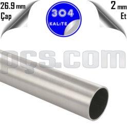 paslanmaz 304 kalite satina yüzey dikişli 26,9x2 3/4 inç parmak parça boru kesim satış