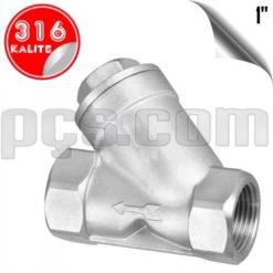 paslanmaz çelik 316 kalite 1 inç y tipi yaylı çekvalf