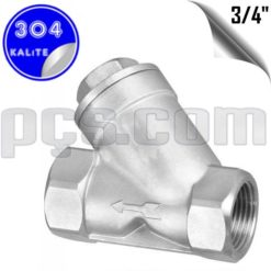 paslanmaz çelik 304 kalite 3/4 inç y tipi yaylı çekvalf
