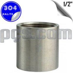 paslanmaz çelik 304 kalite 1/2 inç manşon