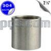 paslanmaz çelik 304 kalite 2 1/2 inç manşon