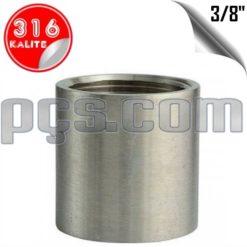 paslanmaz çelik 316 kalite 3/8 inç manşon