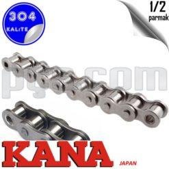 paslanmaz çelik 304 kalite 1/2 parmak japon malı kana marka tek sıra bs zincir BS 08 B1
