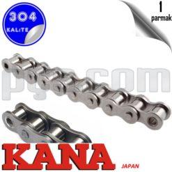 paslanmaz çelik 304 kalite 1 inch bs zincir japon malı kana marka bs 16 b1 tek sıra hareket zinciri