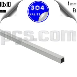 paslanmaz çelik 304 kalite 10x10 parça profil kesimi