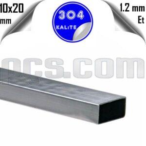 paslanmaz çelik 304 kalite 10x20 parça profil kesimi