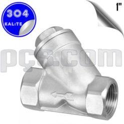 paslanmaz çelik 304 kalite 1 inç pislik tutucu filtre