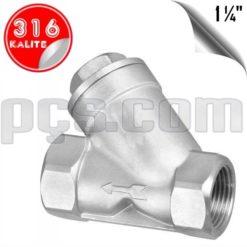 paslanmaz çelik 316 kalite 1 1/4 inç pislik tutucu filtre