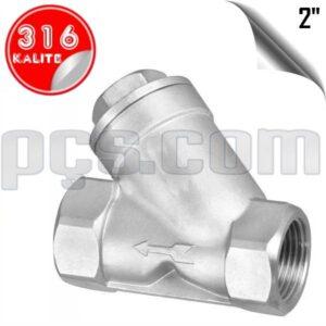 paslanmaz çelik 316 kalite 2 inç pislik tutucu filtre