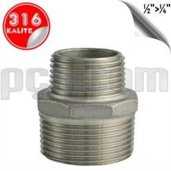 paslanmaz çelik 316 kalite nipel tip redüksiyon orantılı nipel