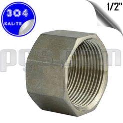 paslanmaz çelik 304 kalite 1/2 inç iç diş kör tapa