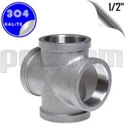 paslanmaz çelik 304 kalite 1/2 inç dişli kruva