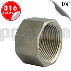 paslanmaz çelik 316 kalite iç diş kör tapa