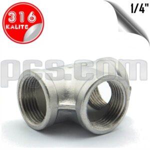 paslanmaz çelik 316 kalite 1/4 parmak dişli tee