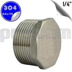 paslanmaz çelik 304 kalite 1/4 inç körtapa