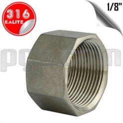 paslanmaz çelik 316 kalite 1/8 inç iç diş körtapa