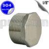 paslanmaz çelik 304 kalite 1/8 inç dış diş körtapa