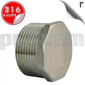 paslanmaz çelik 316 kalite 1 inç dış diş kör tapa