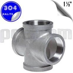 paslanmaz çelik 304 kalite 1 1/2 parmak dişli kruva