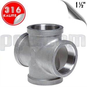 paslanmaz çelik 316 kalite 1 1/2 inç dişli kruva
