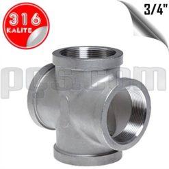 paslanmaz çelik 316 kalite 3/4 inç dişli kruva