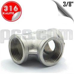 paslanmaz çelik 316 kalite 3/8 parmak dişli tee