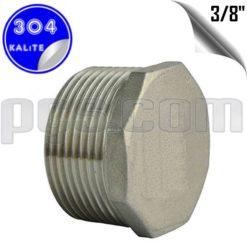 paslanmaz çelik 304 kalite 3/8 inç dış diş körtapa