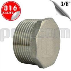 paslanmaz çelik 316 kalite 3/8 inç dış diş kör tapa