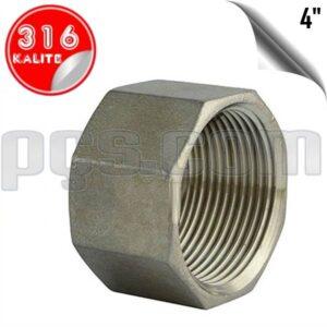 paslanmaz çelik 316 kalite 4 inç iç diş körtapa