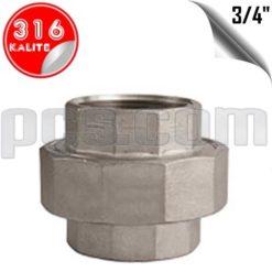 paslanmaz çelik 316 kalite dişli konik rekor