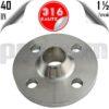 paslanmaz çelik 316 kalite boyunlu flanş