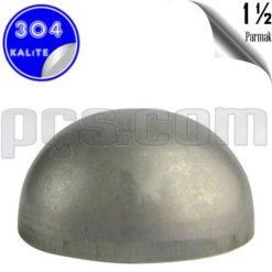 paslanmaz çelik 304 kalite 1 1/2 inç kep