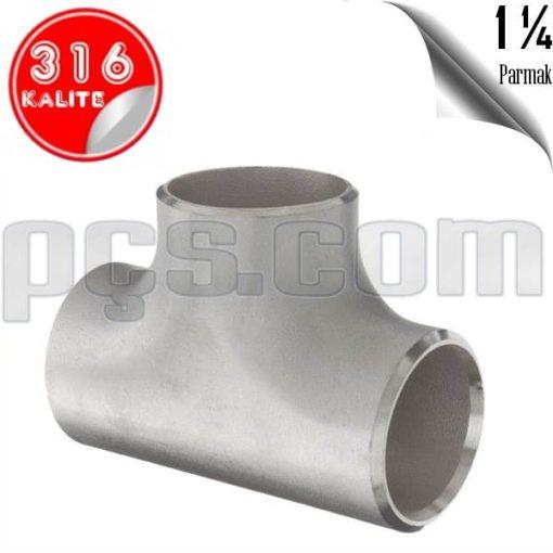 paslanmaz çelik 316 kalite 1 1/4 patent tee