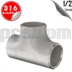 paslanmaz çelik 316 kalite 1/2 inç patent çekme tee