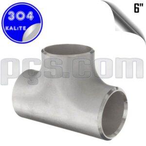 paslanmaz çelik 304 kalite 6 inç patent tee