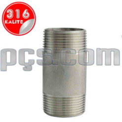 paslanmaz çelik 316 kalite boru tip çift nipel