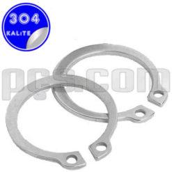 paslanmaz çelik 304 kalite inox a2 dış segman mil segman